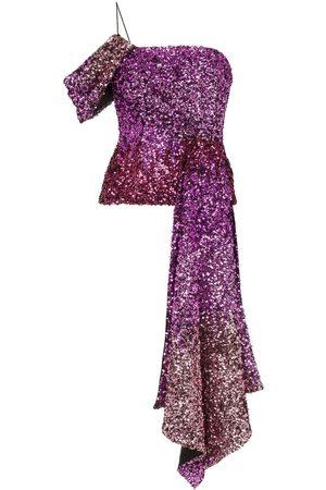 HALPERN Women Bodies - One shoulder draped sequin top