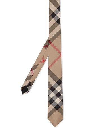 Burberry Classic Cut Check Silk Tie - Neutrals