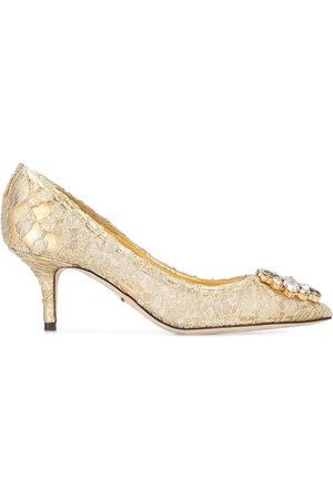 Dolce & Gabbana Women Heels - Bellucci' lace pumps - Metallic