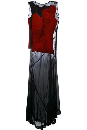 Comme des Garçons Sleeveless velvet panelled dress