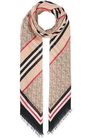 Burberry Icon stripe monogram scarf - Neutrals