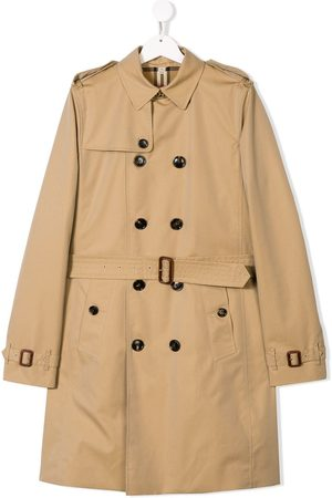 Burberry Trench Coats - TEEN double breasted trench coat - NEUTRALS