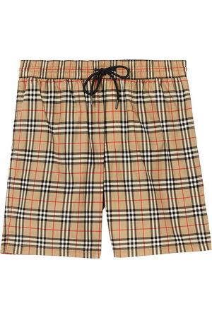 Burberry Vintage Check print swim shorts - Neutrals