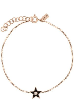 EF Collection 14kt gold diamond star bracelet - BRONZE