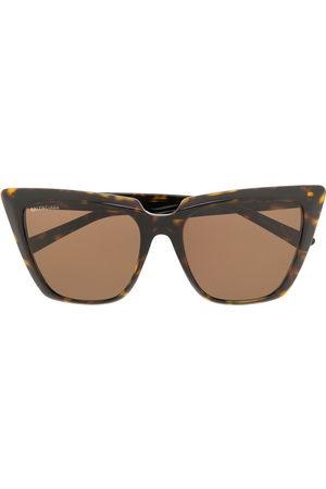 Balenciaga Eyewear Sunglasses - Tortoiseshell cat-eye frame sunglasses