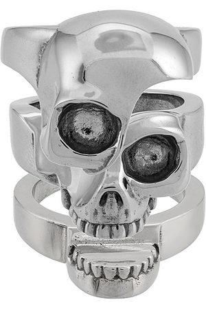 Alexander McQueen Men Rings - Divided skull ring - Metallic