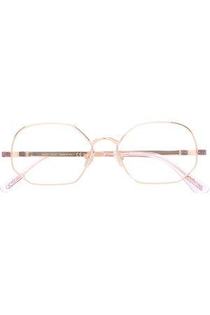 Jimmy Choo Sunglasses - Round frame glitter glasses