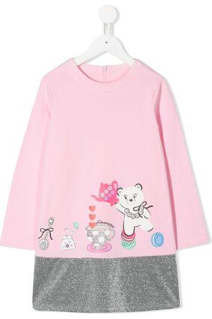 Simonetta Glitter hem sweatshirt dress - 503