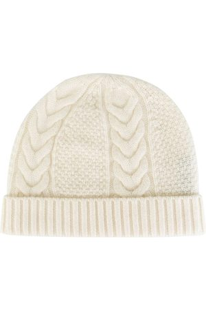 N.PEAL Cashmere cable knit beanie