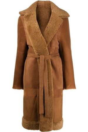 LISKA Panelled longline coat