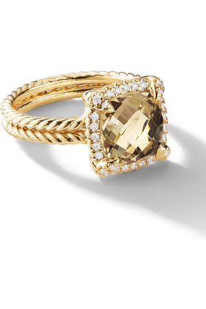 David Yurman 18kt yellow gold Châtelaine citrine and diamond ring - 88ACCDI