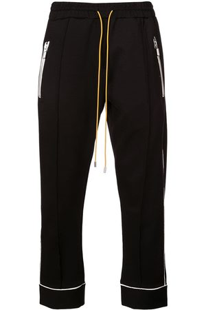 Rhude Men Straight - Contrasting trim track trousers