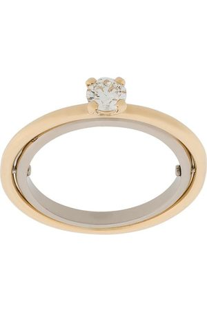 CHARLOTTE CHESNAIS Women Rings - 18kt yellow and white Elipse solitaire diamond ring