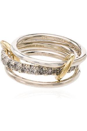 SPINELLI KILCOLLIN 18kt yellow gold Petunia link diamond ring - METALLIC