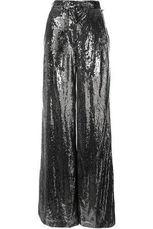Ingie Paris Women Wide Leg Trousers - Sequin wide leg trousers