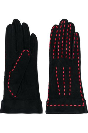CHANEL Women Gloves - 1980s contrast-stitch gloves