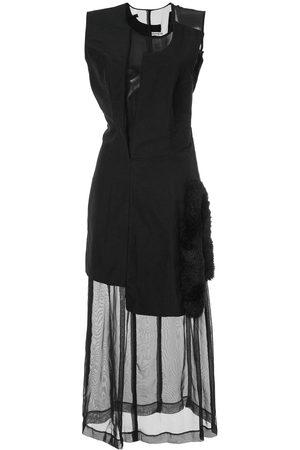 Comme des Garçons Faux fur detail dissected dress