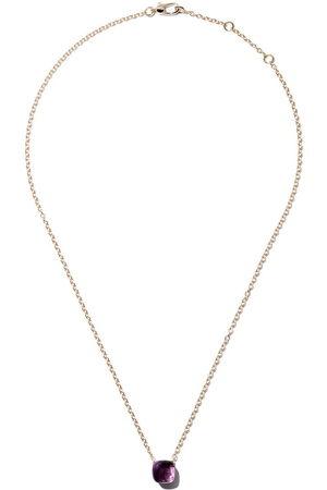 Pomellato Women Necklaces - 18kt rose & white gold Nudo amethyst pendant necklace - VIOLET