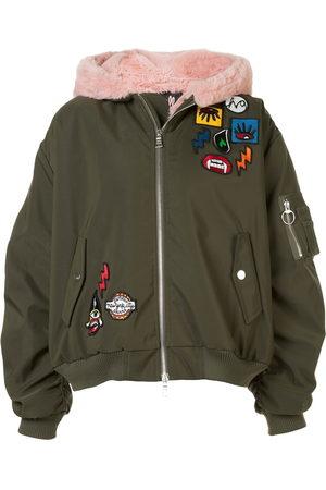 HACULLA Women Bomber Jackets - Aberrant patch bomber jacket