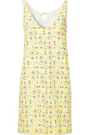CHANEL Hearts print sleeveless dress