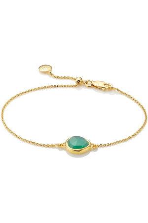 Monica Vinader Women Bracelets - Siren Fine Chain Green Onyx bracelet