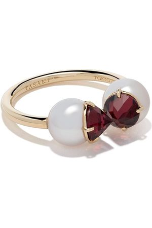 TASAKI 18kt refined rebellion signature garnet ring