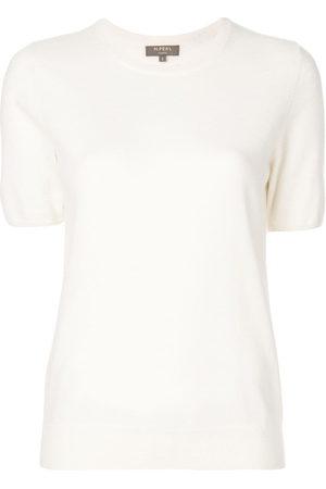 N.PEAL Cashmere round neck T-shirt - Neutrals