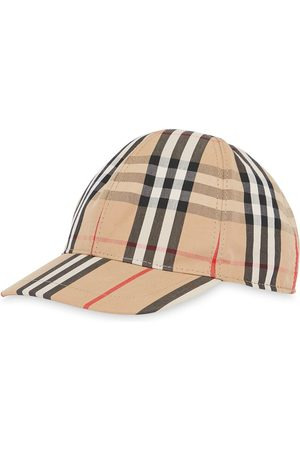 Burberry Vintage Check and Icon Stripe Baseball Cap - Neutrals