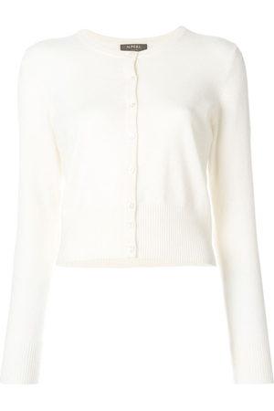 N.PEAL Cashmere round neck cardigan - Neutrals