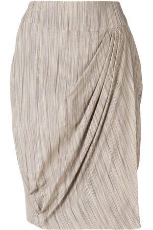Giorgio Armani Pleat detail skirt - Neutrals