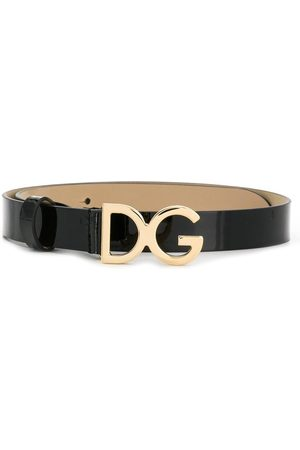 Dolce & Gabbana Girls Belts - Logo plaque belt