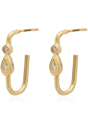JACQUIE AICHE 14kt diamond teardrop earrings