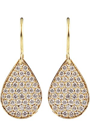 Irene Neuwirth Diamond pear shaped drop earrings - Metallic