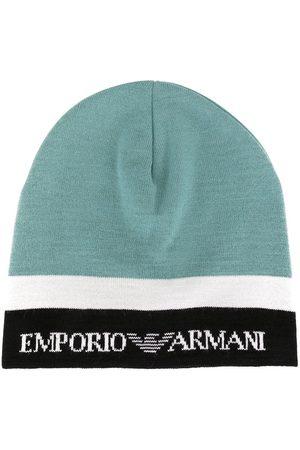 Emporio Armani Kids Colour block knit beanie