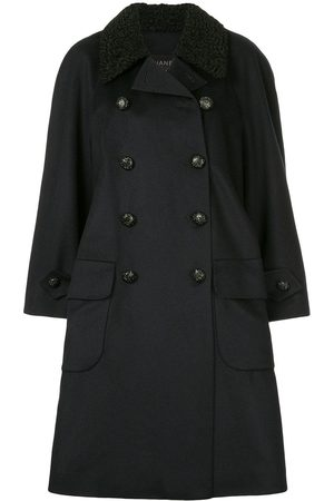 CHANEL Collar appliqué double-breasted coat