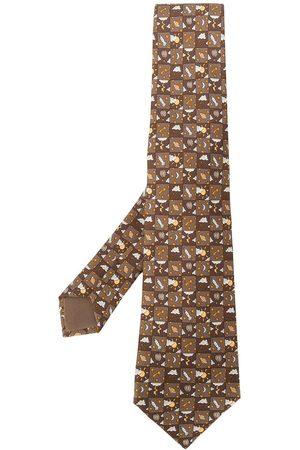 Hermès 2000s pre-owned printed tie