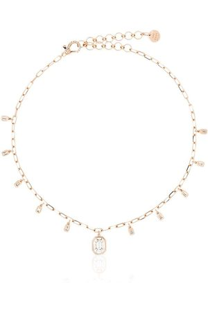 Shay 18kt rose and diamond drop necklace