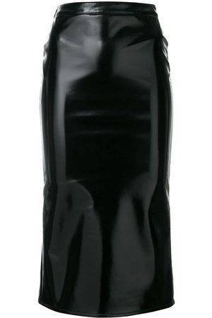 McQ Swallow Coated straight skirt