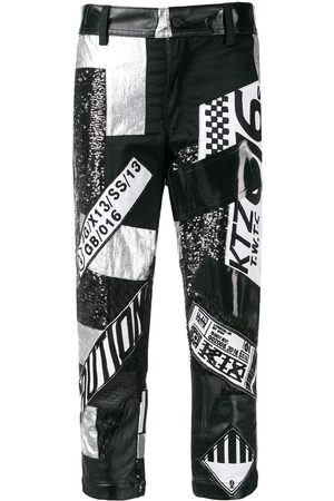 KTZ Multi fabric patchwork trousers