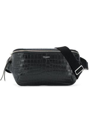 Saint Laurent City crocodile-embossed belt bag