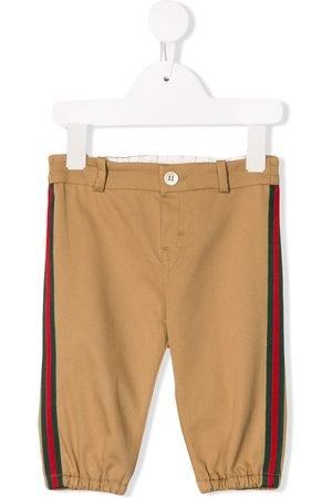 Gucci Kids Side tape chinos - NEUTRALS