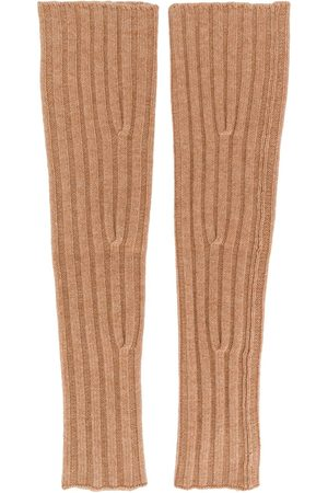 Cashmere In Love Aspen knitted sleeve warmers - NEUTRALS