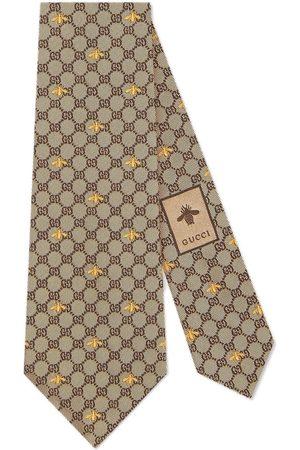 Gucci GG bees tie - Neutrals