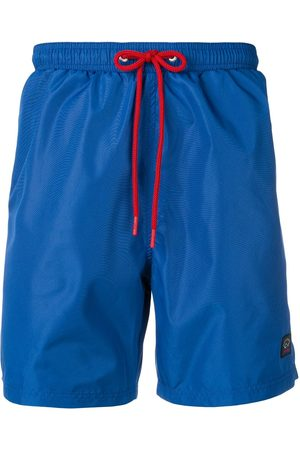 Paul & Shark Men Swim Shorts - Contrast drawstring swim shorts