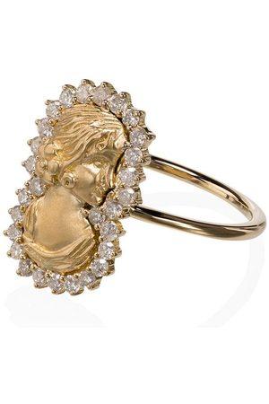 Anissa Kermiche 18K yellow gold Madame Roland diamond ring - METALLIC