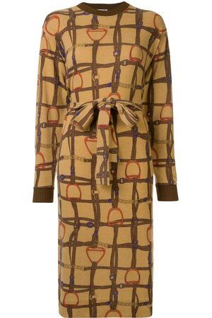 Céline Horse straps print tied dress