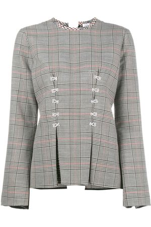 Rosie Assoulin Double Check Top With Flared Sleeves
