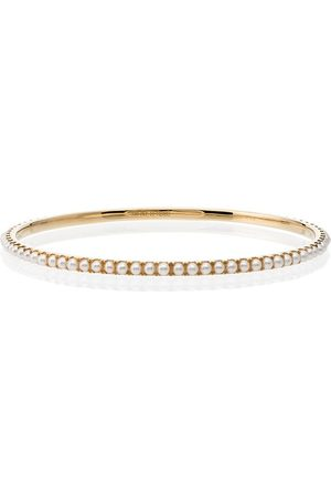 ROSA DE LA CRUZ 18k yellow gold pearl bracelet - Metallic