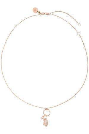 Karen Walker Acorn & leaf loop necklace - Metallic
