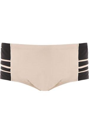 AMIR SLAMA Panelled swim trunks